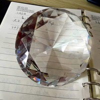 Free shipping 1 pc high quality hand made 100 mm large size crystal glass diamond stone for table decoration