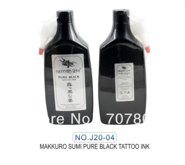 Free shipping 12OZ Super Black MAKKRUO SUMI Tattoo Outlining Ink - Тату және дене өнері - фото 3