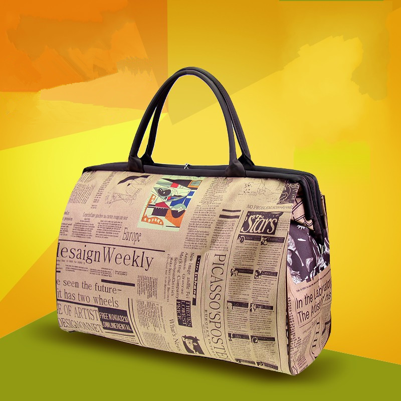 Bolsa de viaje de alta calidad de gran capacidad para mujer, nueva llegada de moda 2018, bolsa de equipaje informal, bolso multifunción