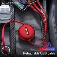 Cafele 3in1 USB di Tipo C Cavo Micro USB Tipo-c per il iPhone Cavo del Caricatore di 120 centimetri 3A di Ricarica Veloce USB C Cavo