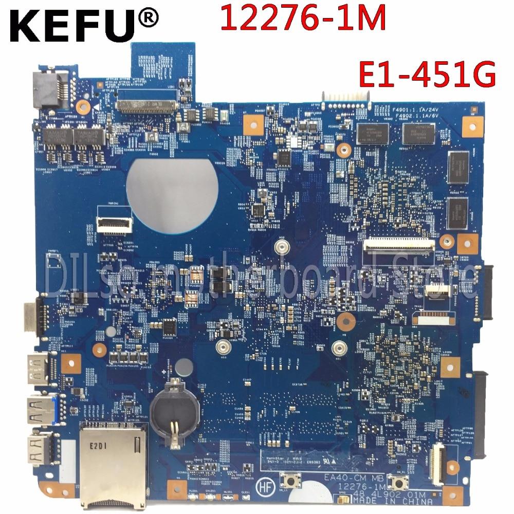KEFU 12276-1M motherboard for Aecr E1-451G laptop motherboard 48.4L903.01M original Test motherboard original laptop motherboard for da0zhrmb6c0 100