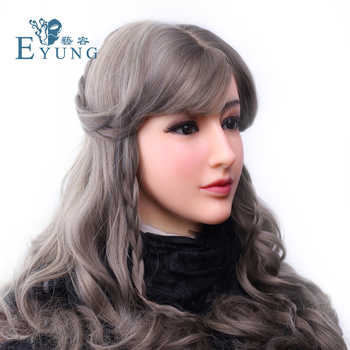 EYUNG Goddess Alice female face with light makeup for crossdresser Masquerade Transgender lovers drag queen shemale boob breast - DISCOUNT ITEM  5% OFF All Category