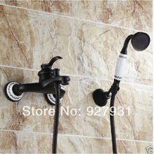 Wholesale and Retail Oil Rubbed Bronze Single Handle Bathroom Tub Shower Faucet Hand Holder Shower Faucets