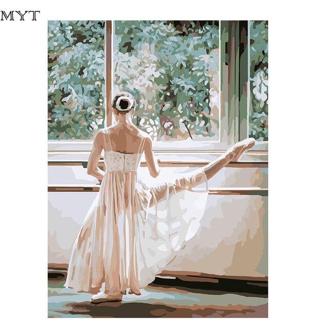 Ballett Mädchen Digitale DIY Handgemalte Digital Färbung Durch ...