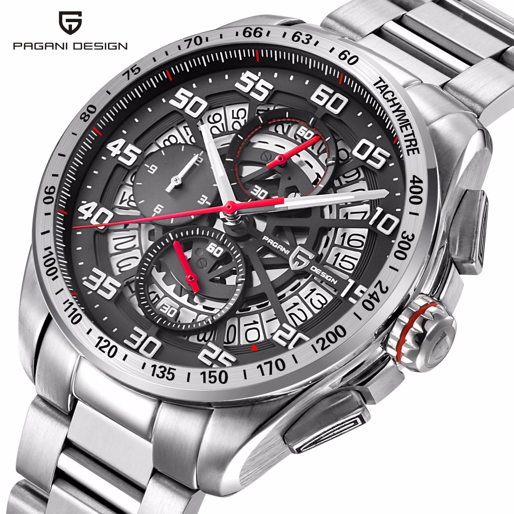 PAGANI design top luxury brand sports chronograph men's fashion casual watches waterproof quartz watch Relogios Masculino Sartre winner skeleton mechanical watch luxury men black waterproof fashion casual military brand sports watches relogios masculino