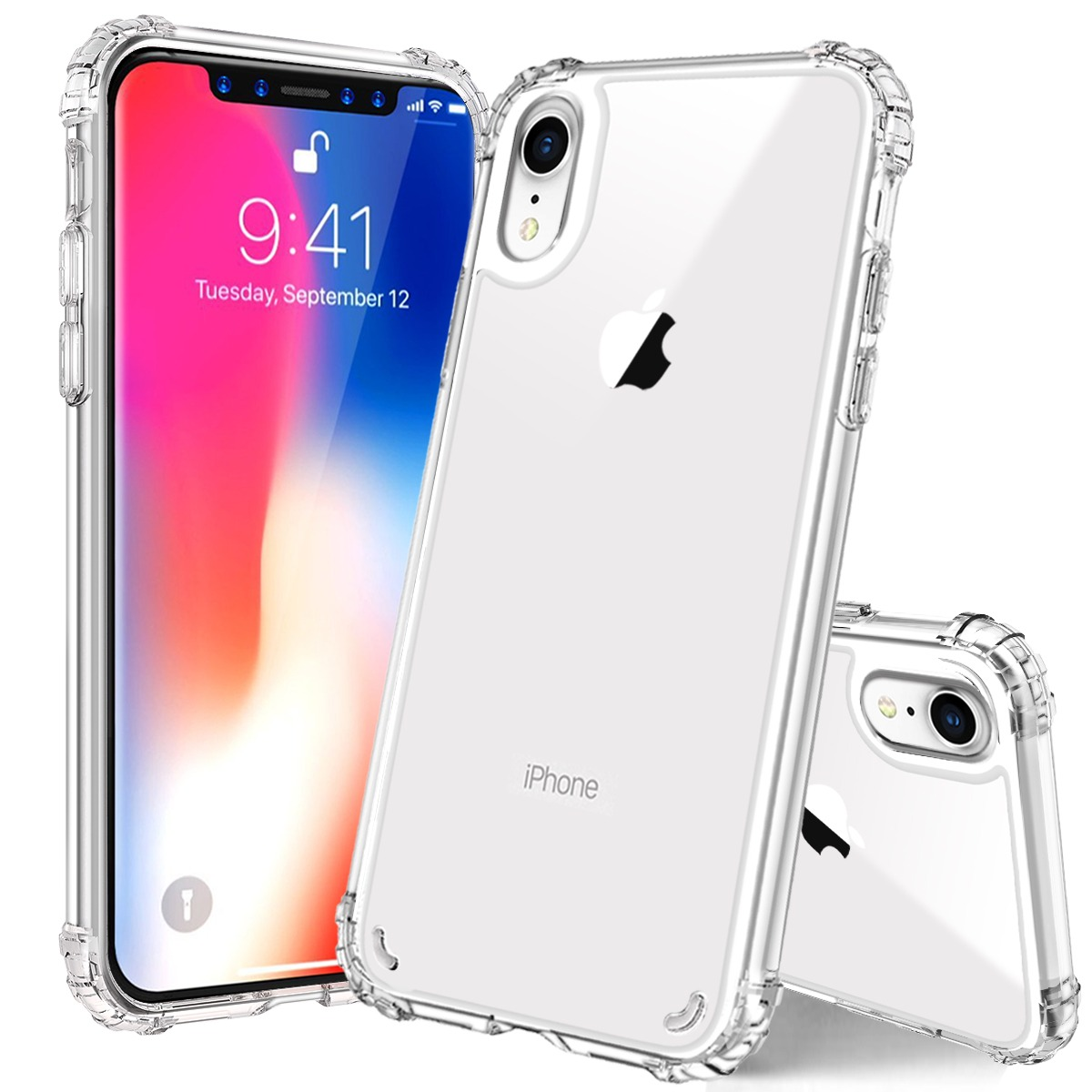 superior quality 02374 38585 US $3.99 20% OFF|For iPhone XR XS Max X Case, Crystal Clear Slim Protective  Cover with Reinforced Corner Bumpers, Flexible Soft TPU Anti Scratch-in ...