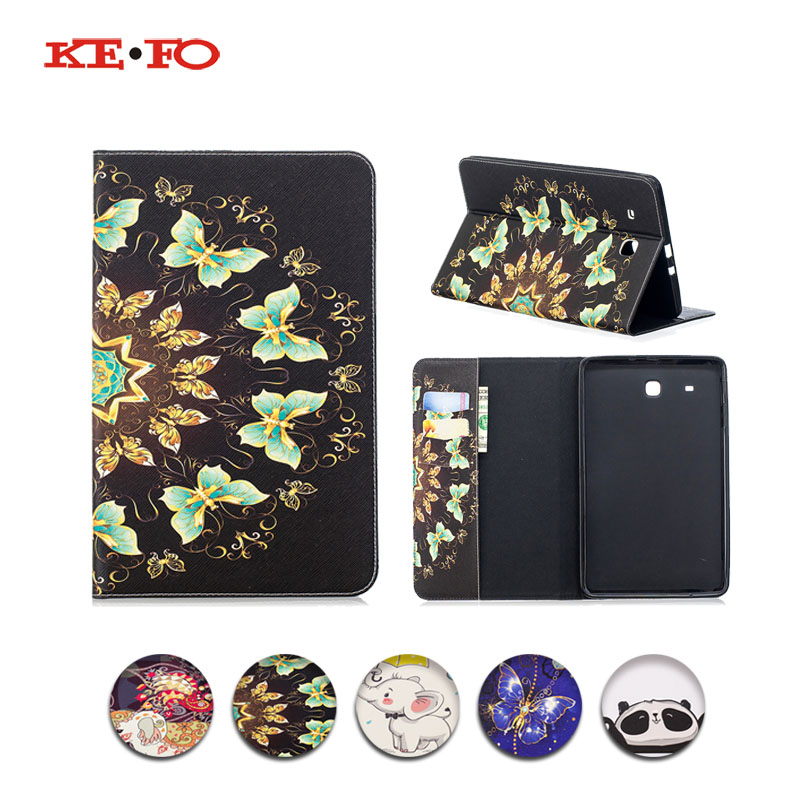 For Samsung Galaxy tab e sm t561 Covers PU Leather Flip Silicon sFor Samsung Galaxy Tab E 9.6 T560 SM-T560 SM-T561 Tablet Covers