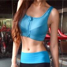 Anti-Shock Gathering Women's Workout Vest Tops Fitness No Steel Circle Women Bra Front Vest Sweat Tops Underwear Female CF25