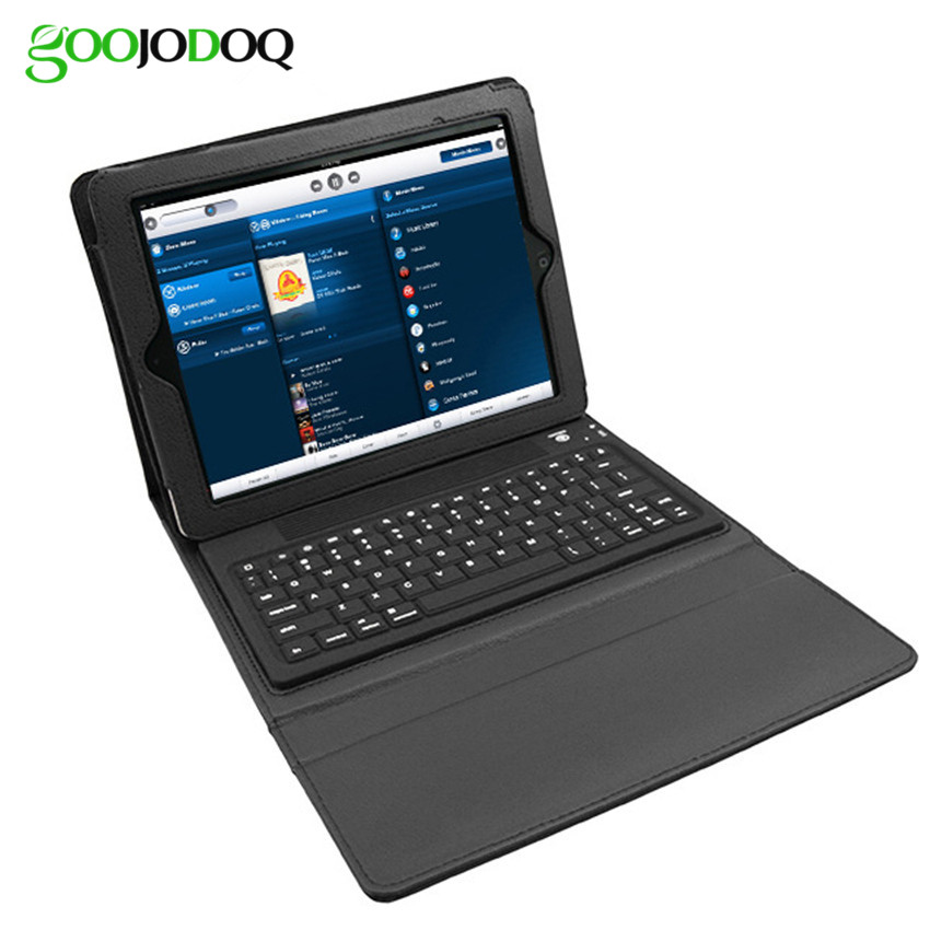 ФОТО Wireless Bluetooth Keyboard Case for Apple IPad Air 1 2  PU Leather  Stand Ultra Slim Foldable Cover Holder A2324