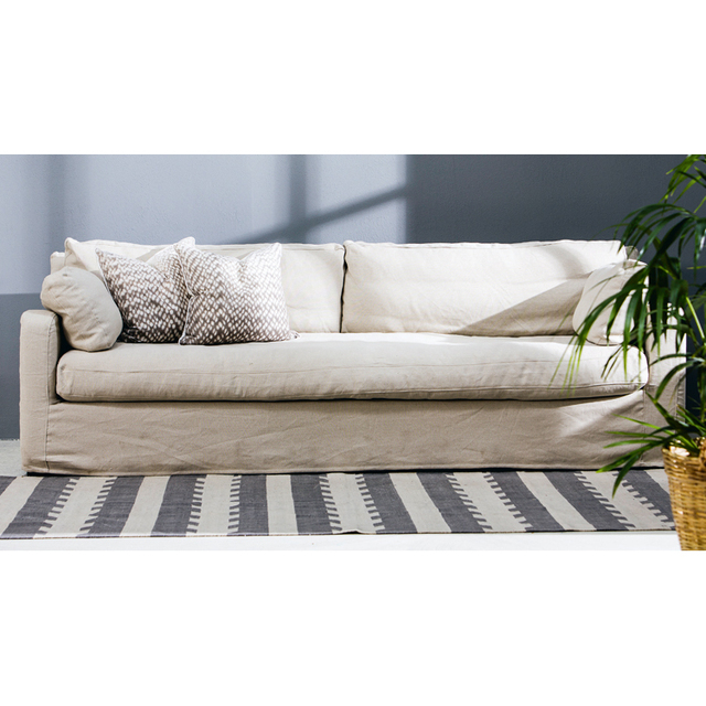 US $3748.5 |American country washable linen duvets Nordic simple U shaped  sofa fabric sofa combination living room large apartment-in Hotel Sofas  from ...