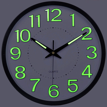 promotion luminova modern minimalist temperature humidity wall clock mute large living room creative quartz wall
