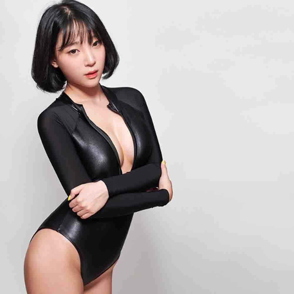 LEOHEX 2019 Sexy une pièce maillot de bain dos fermeture éclair maillots de bain body haute coupe une pièce maillots de bain femmes maillots de bain japonais bain