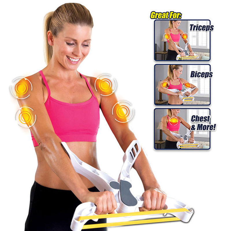 Arm Exerciser Strength Fitness Equipment Workout Bodybuilding Training Forearm Wrist Exerciser Force Grip Fitness Gym Equipment image