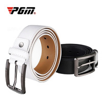 PGM 2019 Brand new men's belt golf belt white leather cowskin casual male simple COW LEATHER belt