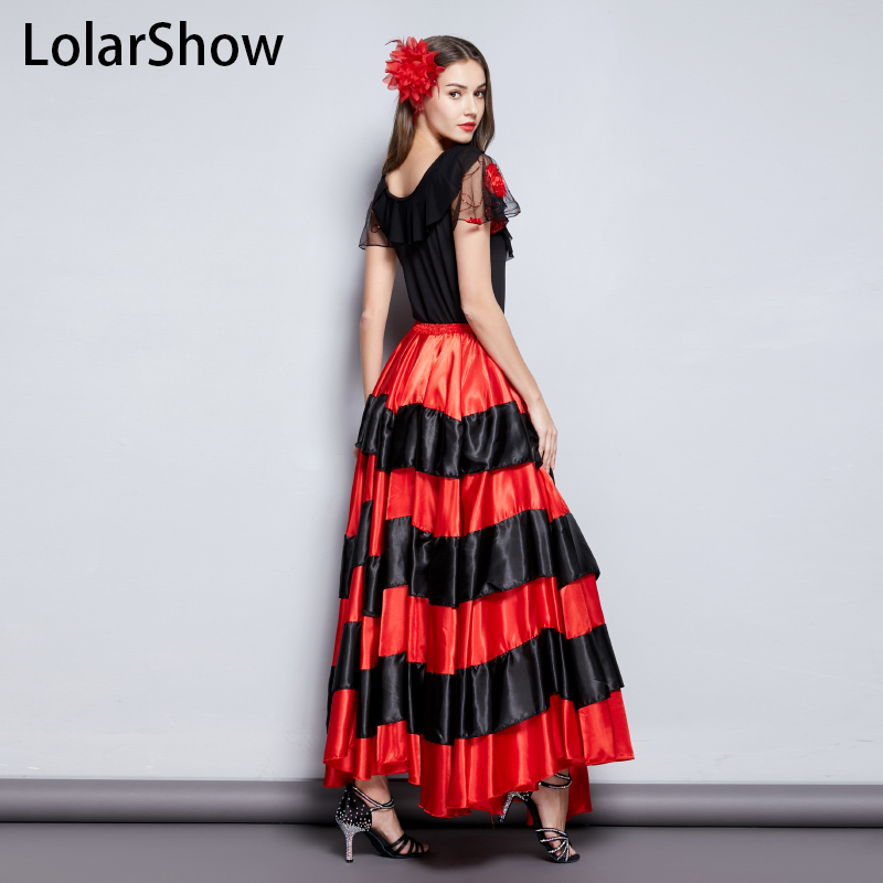 Flamenco Skirt Classic Women's Spanish Dance Costume Gypsies  Flamenco Dress