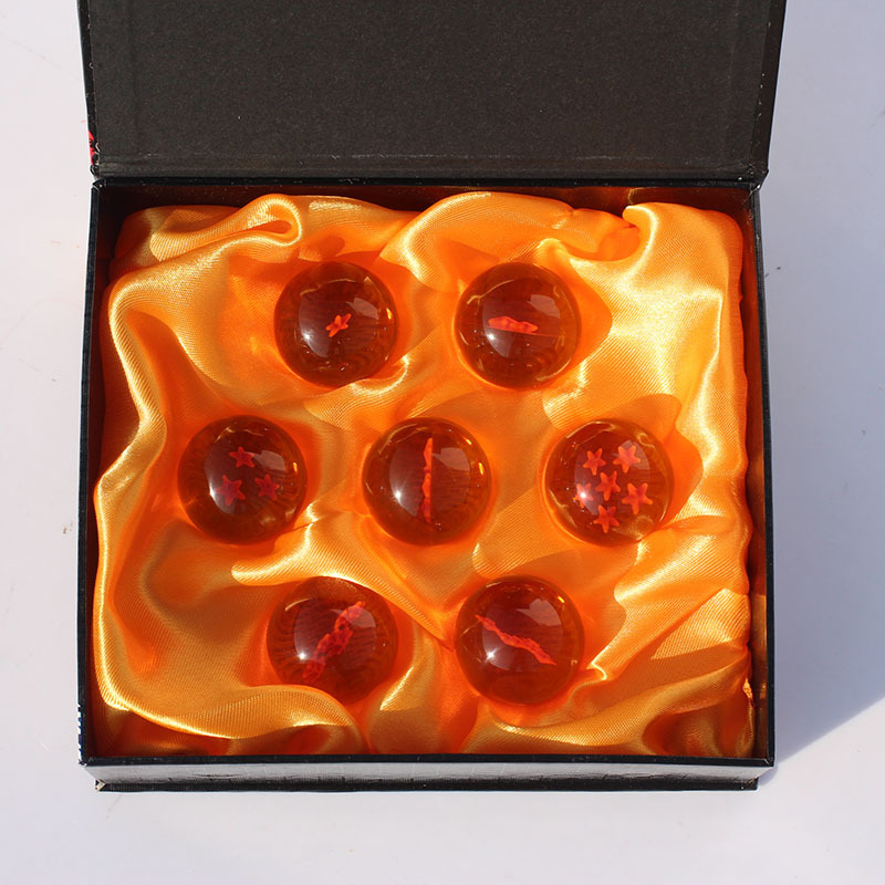 1Set 7Pcs/lot Dragon Ball Z 3.5CM New In Box DragonBall 7 Stars Crystal Balls Dragon Ball Z Balls Complete set retail