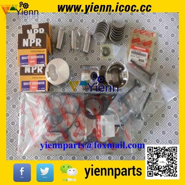 Yanmar 3TN66E 3TN66L Overhual Repair Parts For JOHN DEERE M