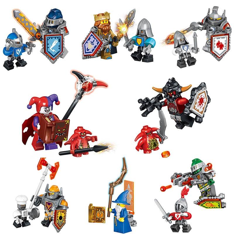 Nexo Knights Future Shield Super Hero Castle Warrior Nexus Blocks Avengers Iron Man Batman knight Compatible LegoINGlys Figures lepin 03029 6pcs lot super heroes nexus knights future knight castle warrior building block figures bricks kid toy gift