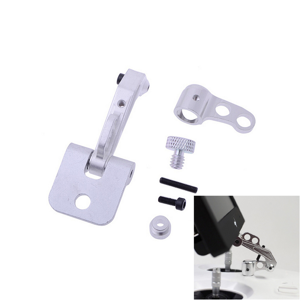 1set RC Model Aerial CNC Aluminum Alloy FPV Monitor Mount Bracket for Transmitters aluminum alloy fpv monitor mounting bracket for futaba silver orange