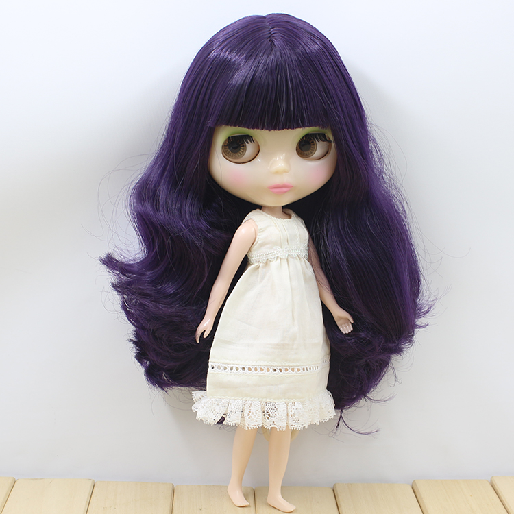 Free shipping Nude Blyth doll puper long hair with bangs cute fashion blyth dolls  for girls gifts