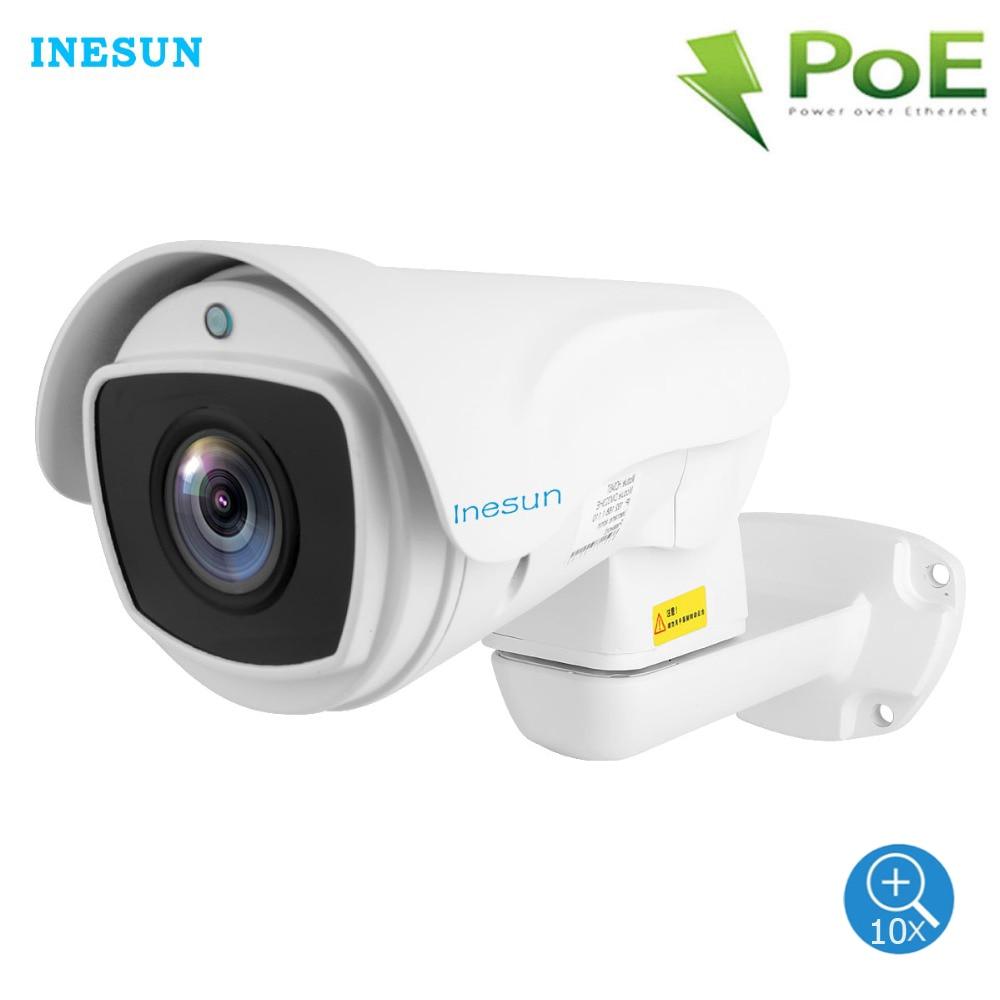 Inesun na świeżym powietrzu PoE PTZ kamera bezpieczeństwa IP 2MP Full HD 1080P 10X Zoom optyczny kamera PTZ wodoodporna 330ft Laser IR Night Vision w Kamery nadzoru od Bezpieczeństwo i ochrona na AliExpress - 11.11_Double 11Singles' Day 1