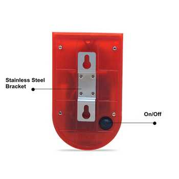 Security Alarm Solar Power Siren With Strobe IP65 Waterproof 110dB Loud Siren Built-in PIR Motion Sensor For Home Yard Outdoor