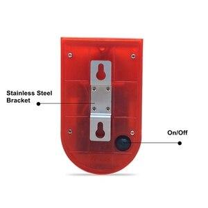 Image 5 - Security Alarm Zonne energie Sirene Met Strobe IP65 Waterdichte 110dB Luide Sirene Ingebouwde PIR Motion Sensor Voor Huis Tuin Outdoor