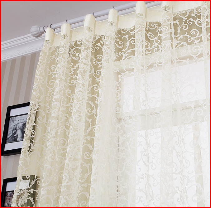 Fashion Curtain Quality Finished Product Sheer Curtain Tulle Panel Free Shipping In Curtains