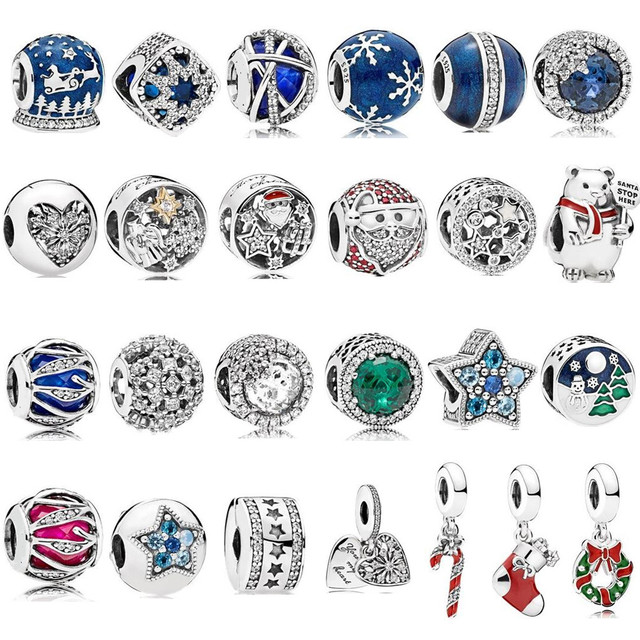 2017 Winter Collection Beads Genuine 925 Sterling Silver Charms Beads fits for  Bracelet DIY Accessories Jewelry.