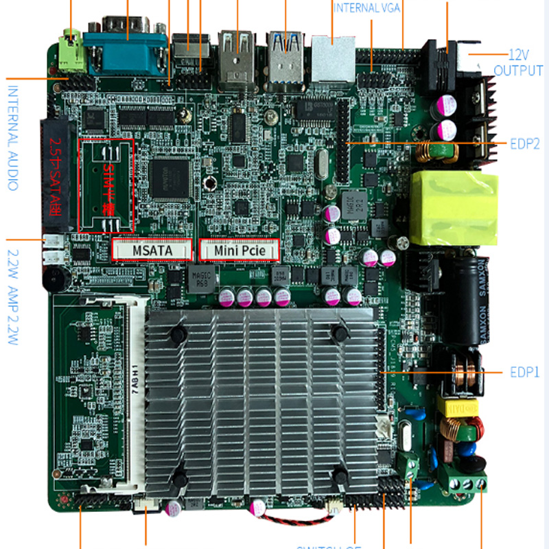 low cost integrated intel celeron quad core processor J1800 for teaching machine motherboard cheap intel celeron j1900 220v all in one pc motherboard for vending machine