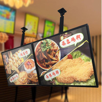 A1 Ceiling Hanging Illuminated Poster Display & Light box Menu Boards for Restaurant Take away,Cafe Shops