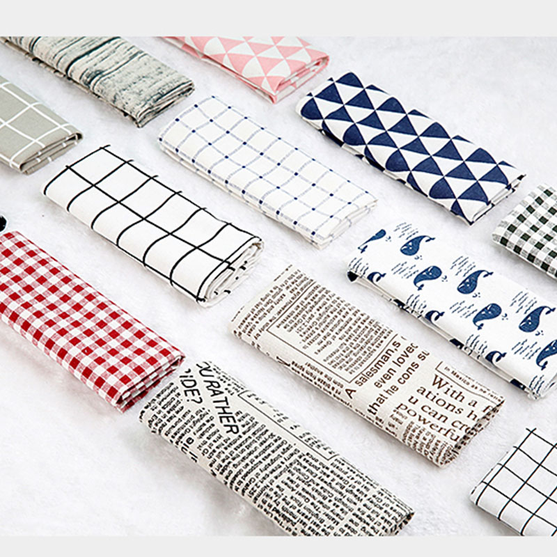 High Quality Plaid Tablecloth ins Style food photography background cloth Canvas Woven Cloth for photo studio Photography props in Photo Studio Accessories from Consumer Electronics