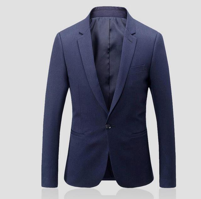 A зерно пряжки мужской костюм куртка свадьба шафером жениха человек пиджак формальные occasio pure color с длинным рукавом деловой костюм