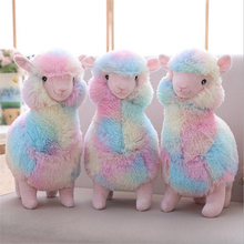 30cm Cute Rainbow Alpaca Plush Toys Stuffed Animal Soft Doll Toy Children Girls Birthday Gift