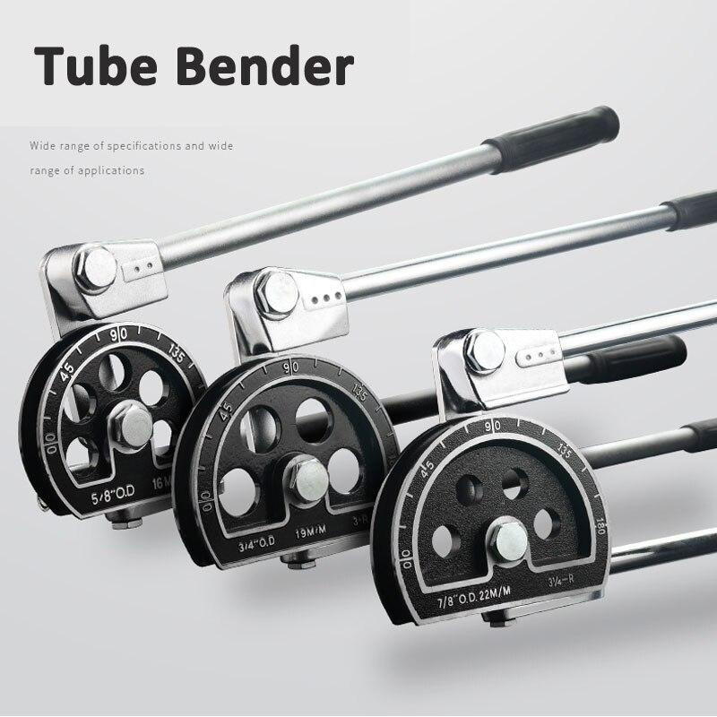 SJ Manual Pipe Bender Tube Bending Tool Air-conditioner Copper Aluminium 12 14 16 19 22mm