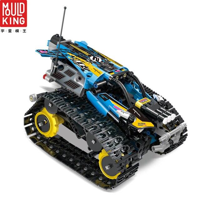 Mould king 13032 crawler racing car tracked remote control rc car building blocks technic car 42095 lepin™ land shop