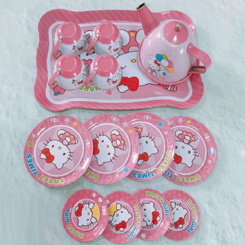Fly AC Kids Learning & Education princess series Afternoon tea Simulation Tea set Toys for Children Birthday/Christmas gift series 1 leaves tea