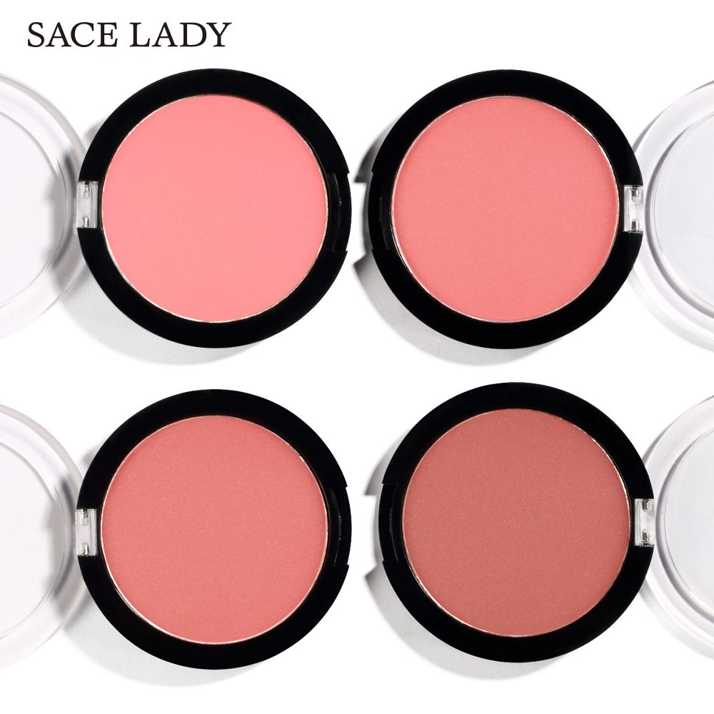 SACE LADY Mineral Matte 4 Color Blusher Face Professional Matte Peach Blusher Make Up Long Lasting Natural Cheek Blusher Powder in Blush from Beauty Health