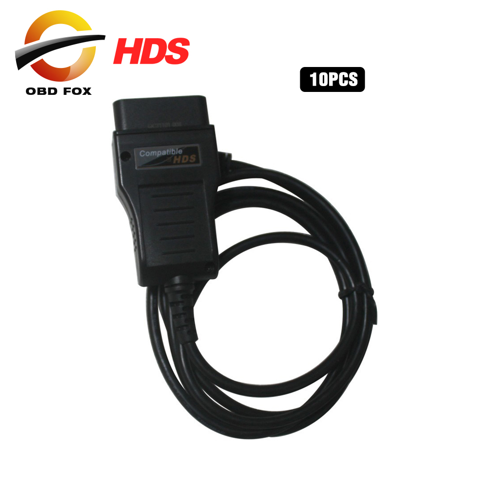 HDS Cable OBD2 Diagnostic Cable 10pcs lot Multi langauge HDS interface For HONDA DHL Free Shipping