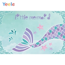 Yeele Mermaid Birthday Photocall Clever Room Decor Photography Backdrops Personalized Photographic Backgrounds For Photo Studio