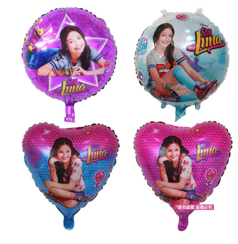 50PCS 18Inch Heart Round Soy Luna Foil Balloons Wedding Ballon Baby Birthday Party Decor Kid Girl Globos Cumpleanos Infantiles