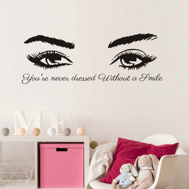 Aliexpresscom Buy A Smile Beautiful Eyes Woman Spa YouRe Never - Vinyl stickers designaliexpresscombuy eyes new design vinyl wall stickers eye wall