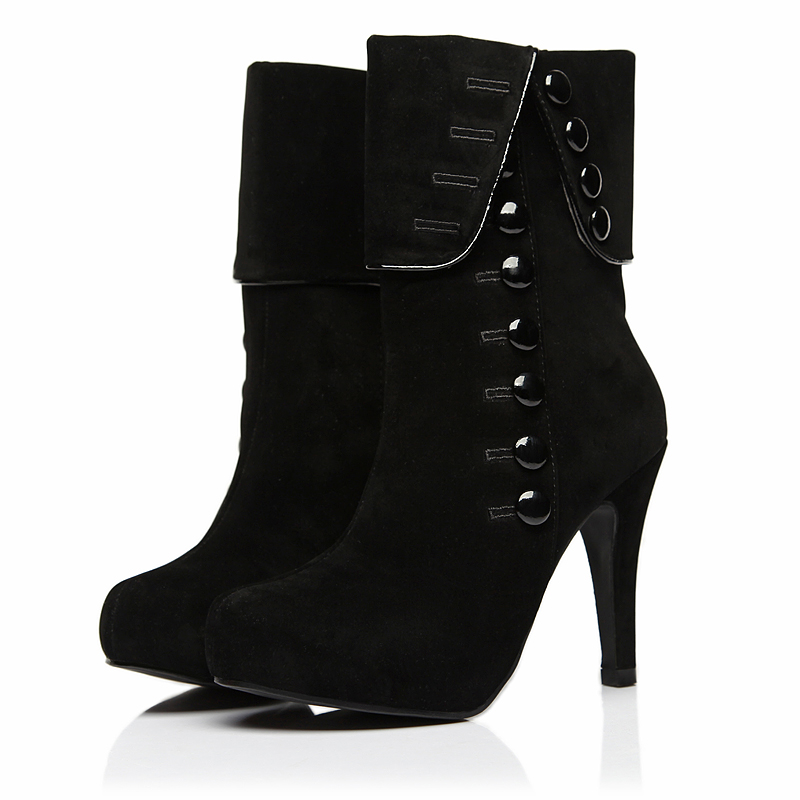 Unique High Thin Heels Women Boots Fashion Ankle Boots Sequined Pointed Toe Knight Boots Women Shoes ...