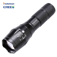 E17 3800 Lumens CREE XM L T6 LED Flashlight 5 Mode Zoomable Linternas LED Torch High