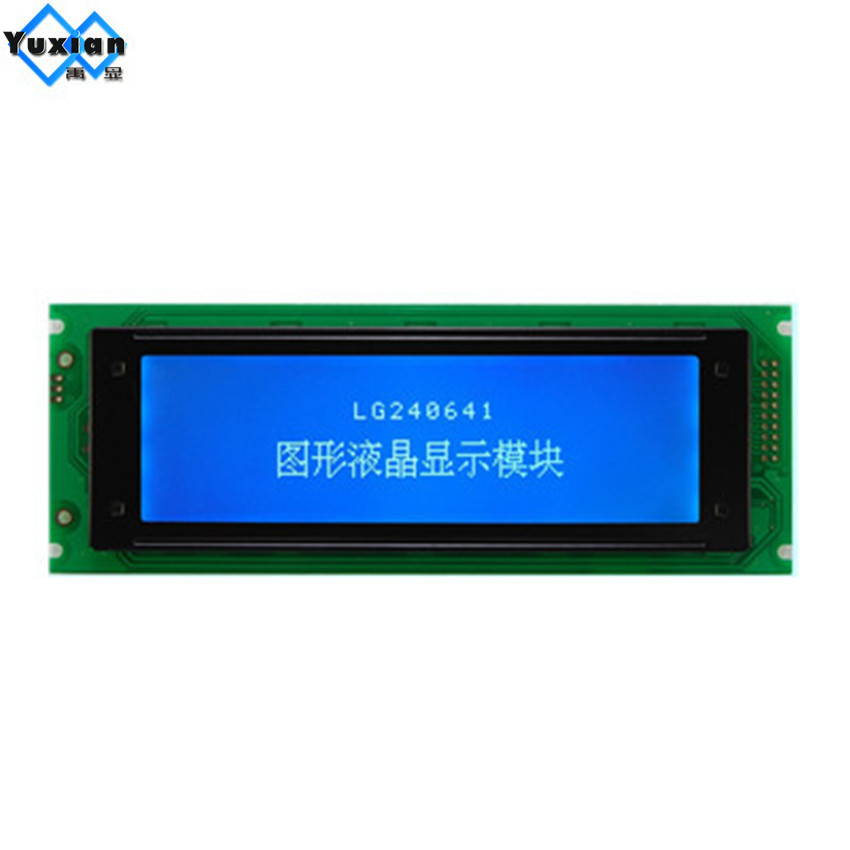 Free shipping 1pcs LCD 240x64 24064 LCD display graphic module blue white T6963 UCI6963 WG24064 LG240641