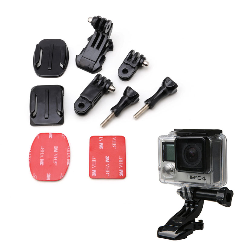 4 5 Helmet Front Mount Accessories Set J-Hook Bracket for Gopro 3