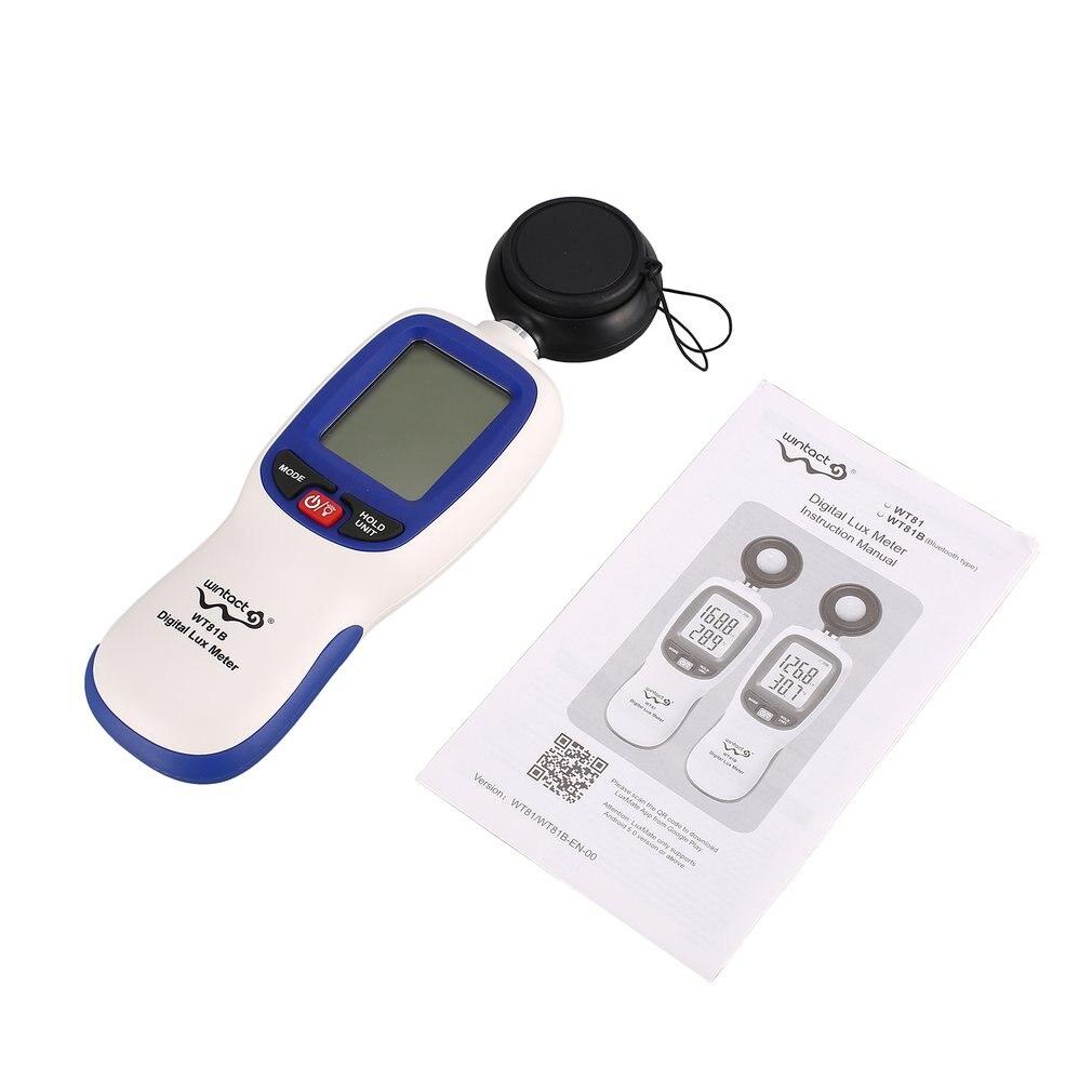 Digital LUX Meter Light Meter WT81B Bluetooth Luxmeter Light Meter Tester Illuminometer For Measuring Illumination And Brightness