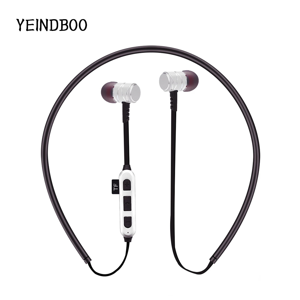 YEINDBOO Wireless Headphones IPX5 Waterproof Sports Bluetooth Earphones Lightweight Neckband Headset With MIC Noise-Cancellation