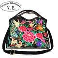 Vintage Embroidery Women Handbag Canvas Embroidered National Single Shoulder Bag Crossbody Bolsa Feminina Bolsos