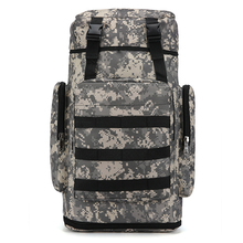 Telescopic Sports Backpack Camouflage Unisex Multi-function Outdoor Mountaineering Bag 85L Large Capacity Travel